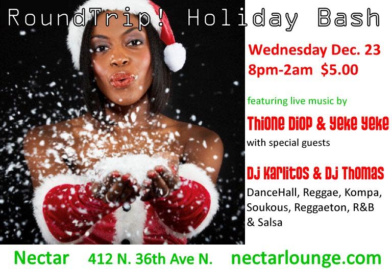 RoundTrip Holiday Bash at Nectar on 12/23