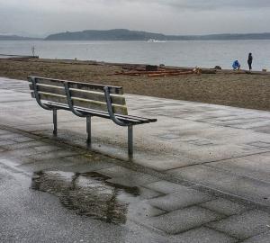 Rainy Alki beach 1
